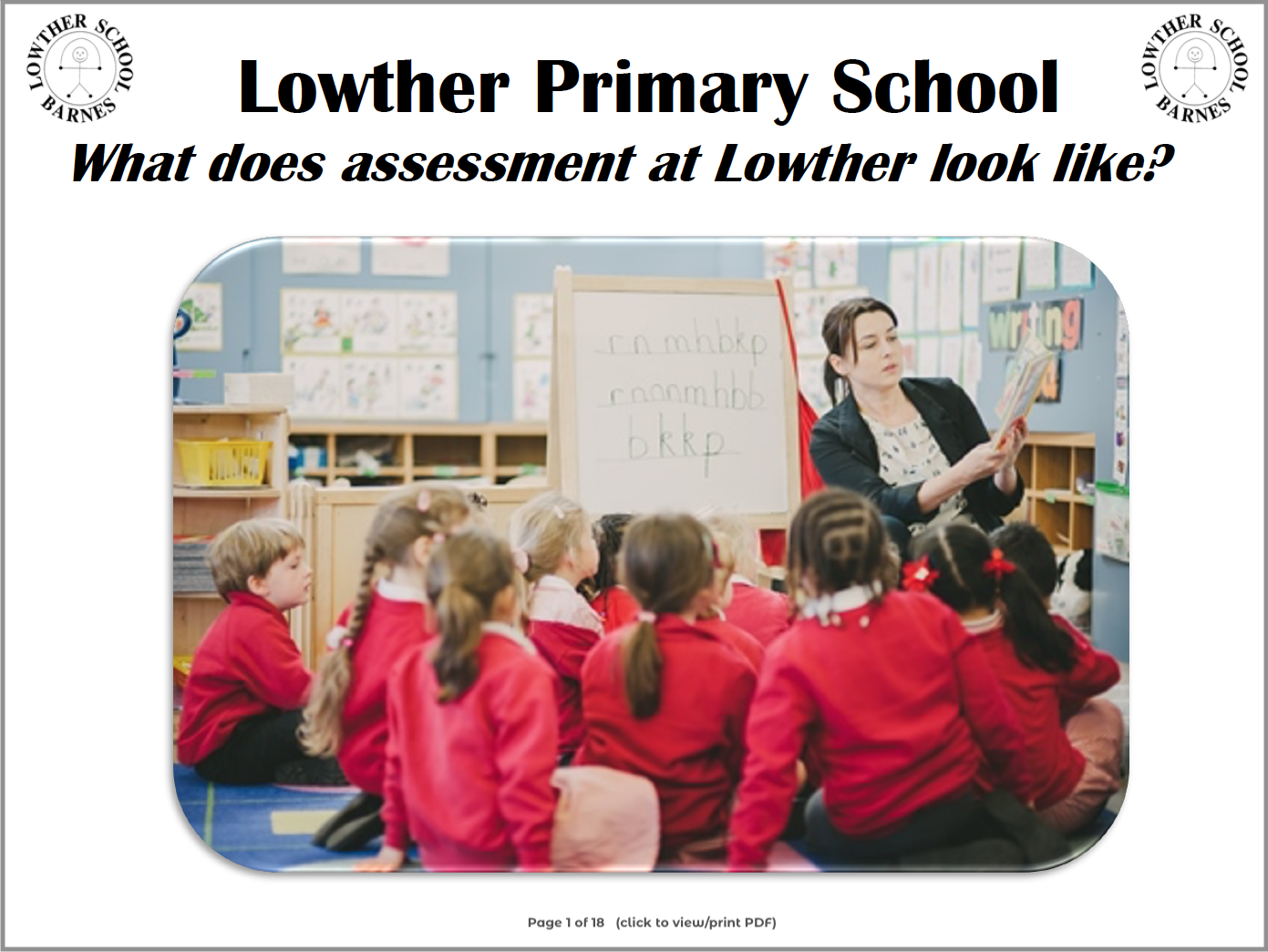 Lowther Assessment for Parents PDF link