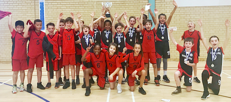 Lowther Basketball Champions squad photo
