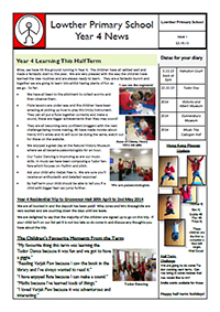 Year 4 Autumn 2013 Newsletter